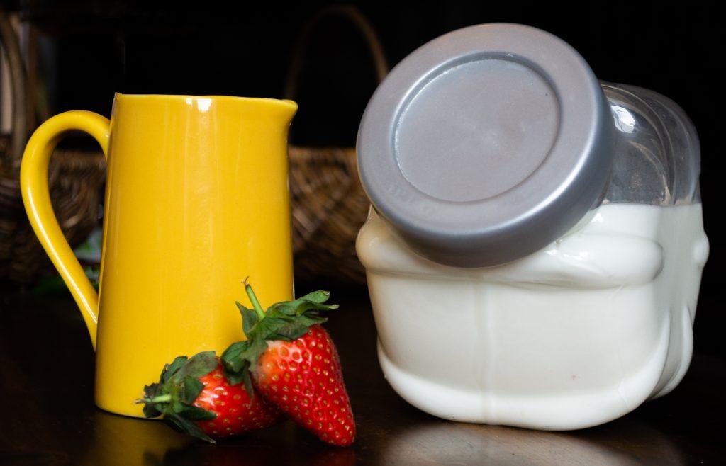 homemade buttermilk in a jar