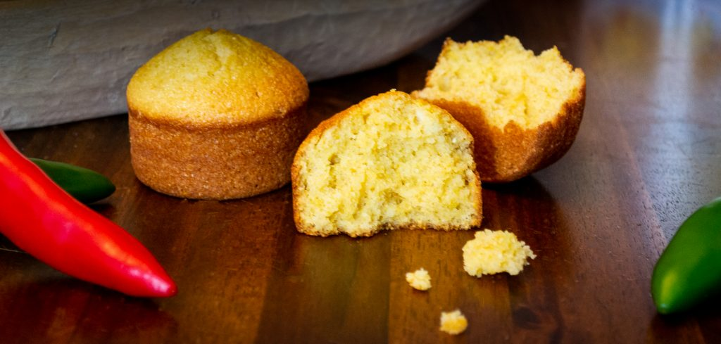 Cornbread muffins made with buttermilk