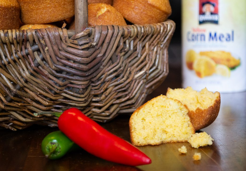 Cornbread muffins made with buttermilk.
